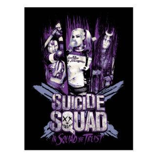 """Suicide Squad   Squad Girls """"In Squad We Trust"""" Postcard"""