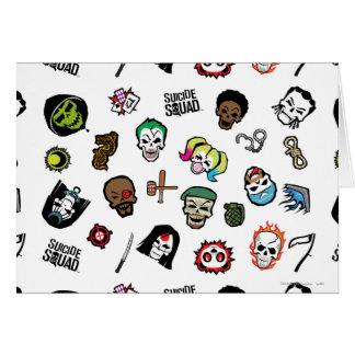 Suicide Squad   Suicide Squad Emoji Pattern Card