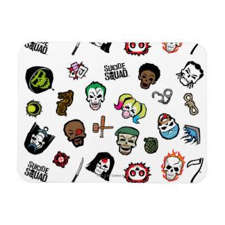 Suicide Squad | Suicide Squad Emoji Pattern Magnet