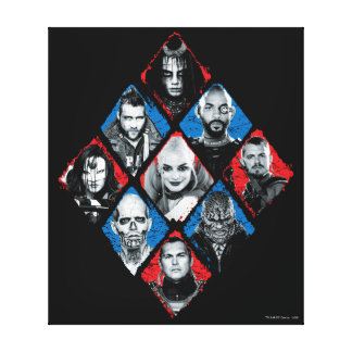 Suicide Squad   Task Force X Checkered Diamond Canvas Print