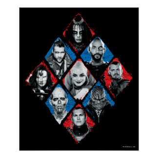 Suicide Squad   Task Force X Checkered Diamond Poster