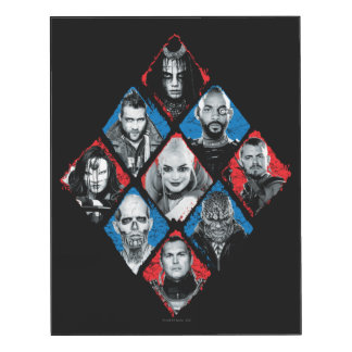 Suicide Squad   Task Force X Checkered Diamond Wood Print