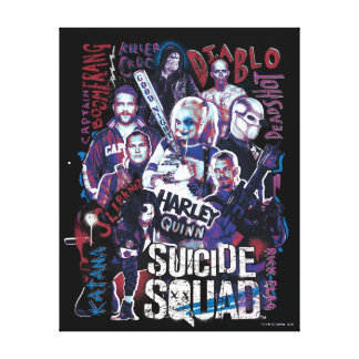Suicide Squad   Task Force X Typography Photo Canvas Print
