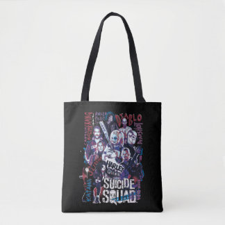 Suicide Squad | Task Force X Typography Photo Tote Bag