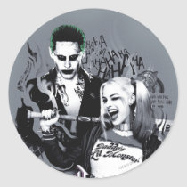 suicide squad, task force x, joker, harley quinn, smoke, tattoo, worst of the worst, marvel comics, Sticker with custom graphic design