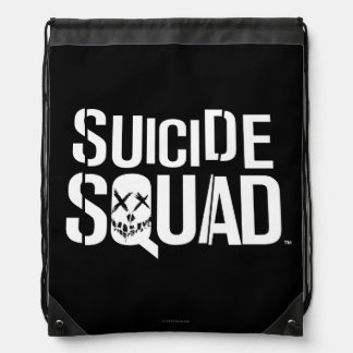 Suicide Squad | White Logo Drawstring Backpack