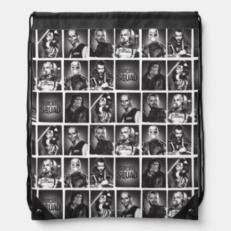 Suicide Squad   Yearbook Pattern Drawstring Bag