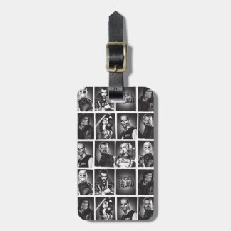Suicide Squad   Yearbook Pattern Luggage Tag
