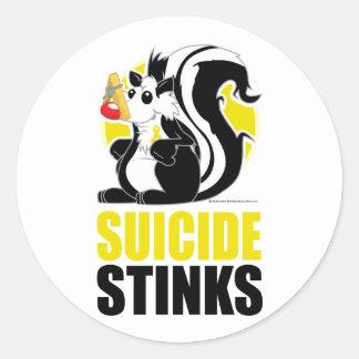 Suicide Stinks Classic Round Sticker