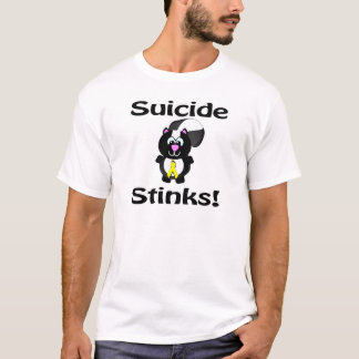 Suicide Stinks Skunk Awareness Design T-Shirt