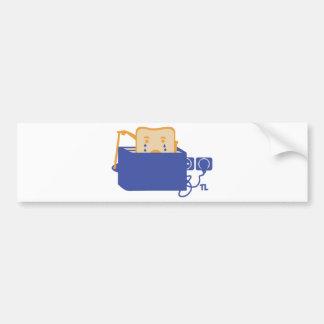 suicide toast icon bumper sticker