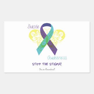 SuicideAwareness Rectangle Stickers