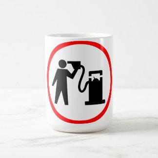 Suicidio de la gasolina tazas de café