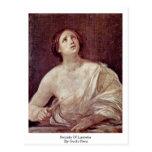 Suicidio de Lucretia de Guido Reni Postal