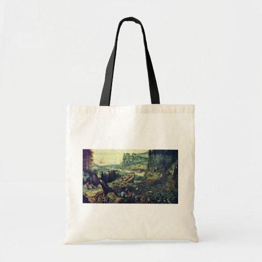Suicidio de Saul por Bruegel D. Ä. Pieter (el Bolsa Tela Barata