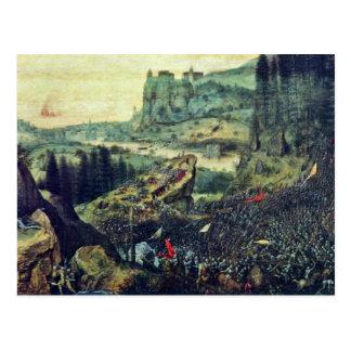 Suicidio de Saul por Bruegel D. Ä. Pieter (el Tarjeta Postal