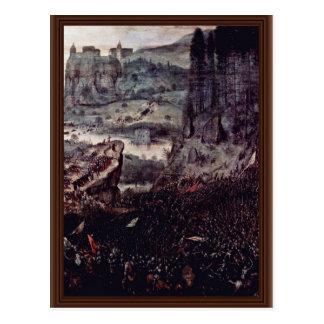 Suicidio del detalle de Saul por Bruegel D. Ä. Postal