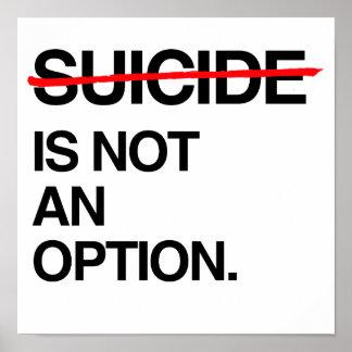 SUICIDIO DEL FINAL NO ES UNA OPCIÓN PÓSTER