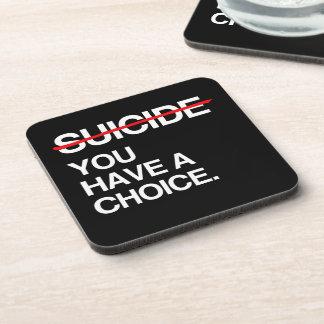 SUICIDIO DEL FINAL USTED TIENE UNA OPCIÓN POSAVASO