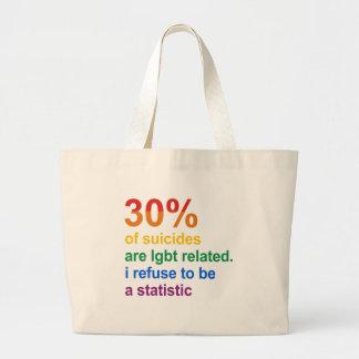 Suicidio gay - rechazo ser una estadística bolsa tela grande