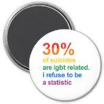 Suicidio gay - rechazo ser una estadística imanes de nevera