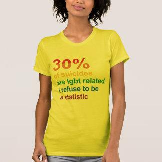 Suicidio gay - rechazo ser una estadística camisetas