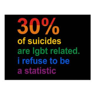Suicidio gay - rechazo ser una estadística postal