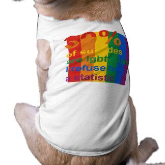 Suicidio gay - rechazo ser una estadística playera sin mangas para perro