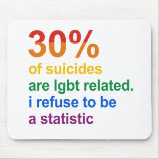 Suicidio gay - rechazo ser una estadística alfombrilla de ratones