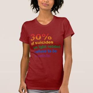 Suicidio gay - rechazo ser una estadística tshirt
