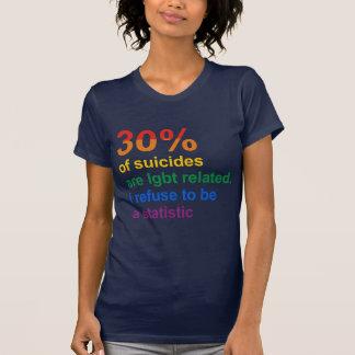 Suicidio gay - rechazo ser una estadística tshirts