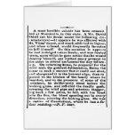 Suicidio horrible a partir de 1834 tarjeta