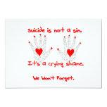 Suicidio-no es un pecado, él es un diseño de la comunicados personalizados