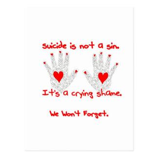 Suicidio-no es un pecado, él es un diseño de la postal