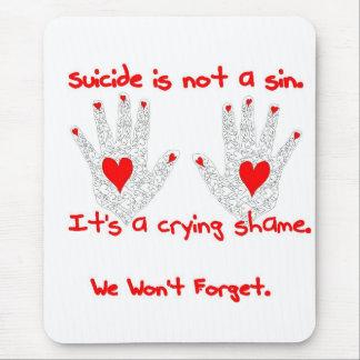 Suicidio-no es un pecado, él es un diseño de la ve mousepad
