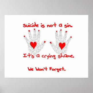 Suicidio-no es un pecado, él es un diseño de la ve póster