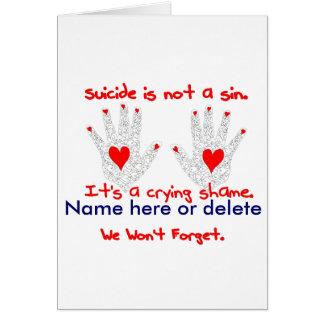 Suicidio-no es un pecado, él es un diseño de la ve tarjeta de felicitación