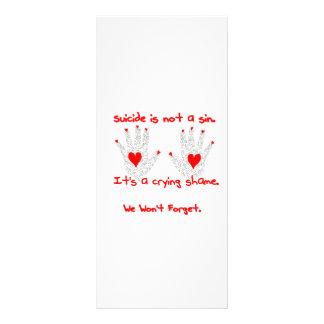 Suicidio-no es un pecado, él es un diseño de la ve tarjetas publicitarias personalizadas