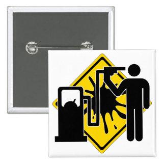 Suicidio por la gasolina pin cuadrado