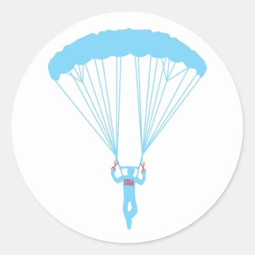 suicidio skydive pegatina redonda
