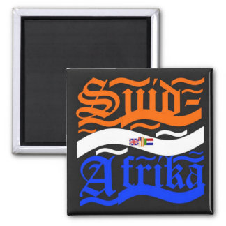 Suid-Afrika 2 Inch Square Magnet