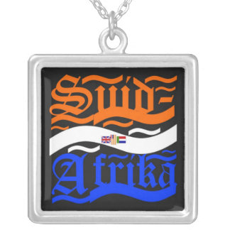 Suid-Afrika Square Pendant Necklace