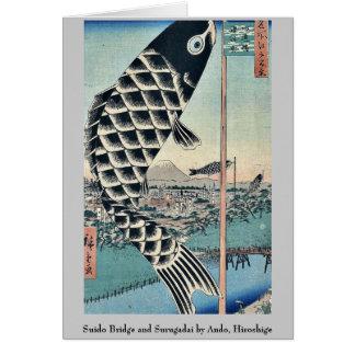 Suido Bridge and Surugadai by Ando, Hiroshige Stationery Note Card