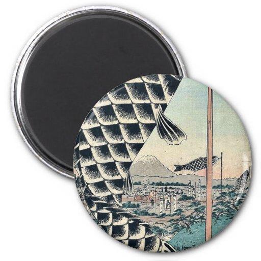 Suido Bridge and Surugadai by Ando, Hiroshige Refrigerator Magnets