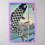 Suido Bridge and Surugadai by Ando, Hiroshige Print