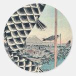 Suido Bridge and Surugadai by Ando, Hiroshige Sticker