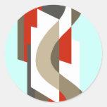 SUISSE: Art Deco Moderne: Sixties Office, Mad Men Round Sticker