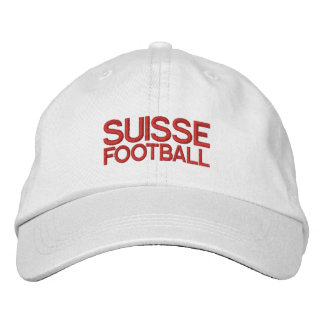 SUISSE FOOTBALL EMBROIDERED BASEBALL CAP
