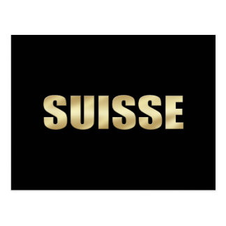 Suisse logo gold soccer football players gifts postcard