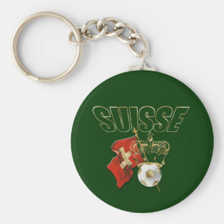 Suisse outline gold royal soccer football gifts key chains